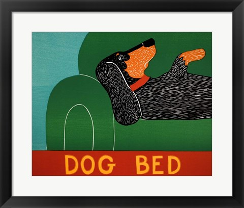 Framed Dog Bed Dachshund Print