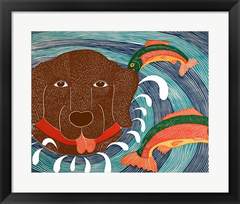 Framed Fish are Jumping Choc Print