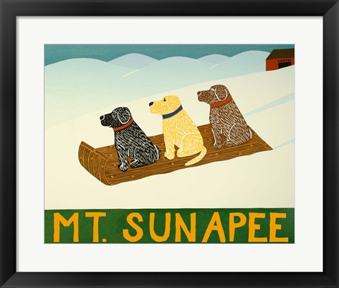 Framed Mt. Sunapee Sled Dogs Template Print