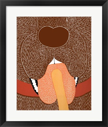 Framed Throat Exam Choc Print
