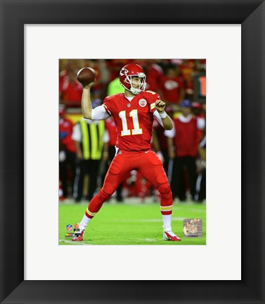 Framed Alex Smith 2015 Action Print