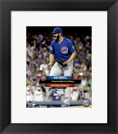 Framed Jake Arrieta throws a No-Hitter August 30, 2015 Print
