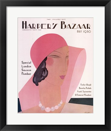 Framed Harper's Bazaar May 1930 Print