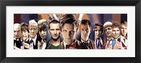 Framed Doctor Who - The Doctors Print