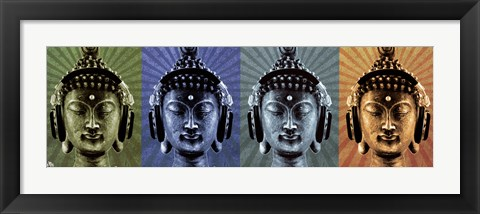 Framed Mcfly - Buddha Wearing Headphone Print