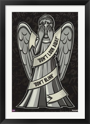 Framed Doctor Who - Weeping Angels Print