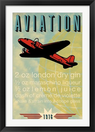 Framed Aviation Recipe Print