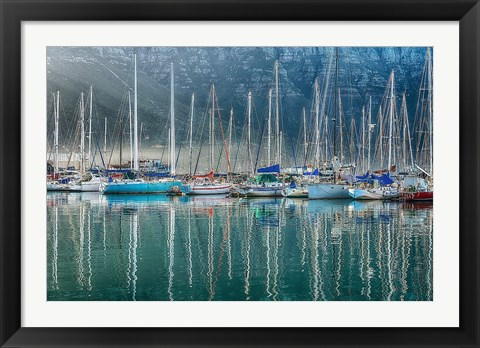 Framed Hout Bay Harbor, Hout Bay South Africa Print