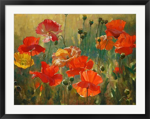 Framed Poppy Fields Print