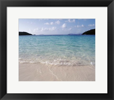 Framed US Virgin Islands, St. John, Virgin Islands National Park, Panoramic view of Hawksnest Bay Print