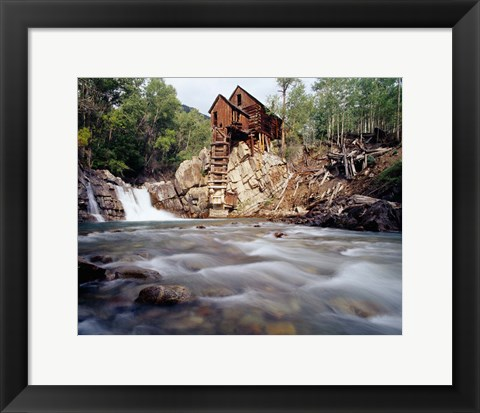 Framed Old Saw Mill, Marble, Colorado Print