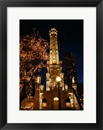 Framed Old Water Tower, Chicago, Illinois Print