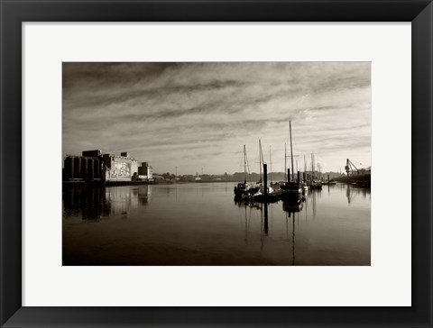 Framed Early Morning River Suir, Waterford City, Ireland Print