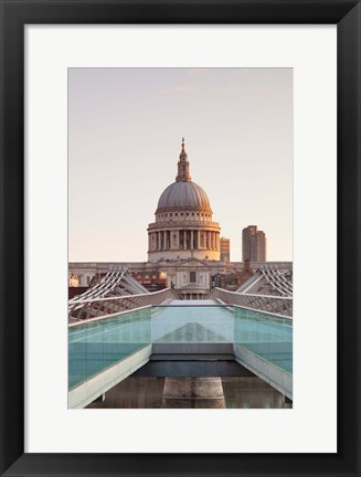 Framed St. Paul's Cathedral, Millennium Bridge, London, England Print