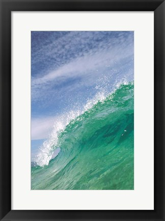 Framed Splashing Wave Print