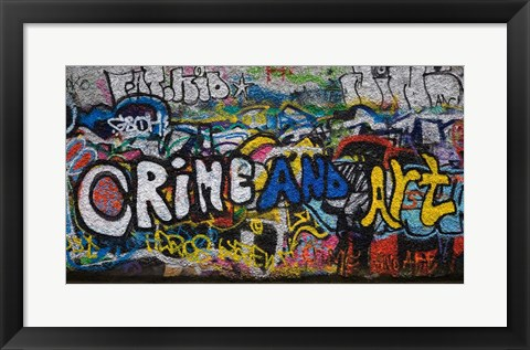 Framed Grafitti on the U2 Wall, Windmill Lane, Dublin, Ireland Print