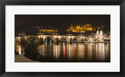 Framed Carl Theodor Bridge, Heidelberg, Baden-Wurttemberg, Germany Print