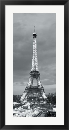 Framed Eiffel Tower and Christmas Market, Paris, France Print