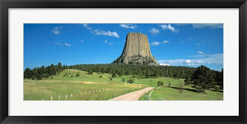 Framed Wyoming, Devils Tower National Monument Print