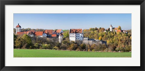 Framed Starkenburg Castle, Martinskirche Church, Baden-Wurttemberg, Germany Print