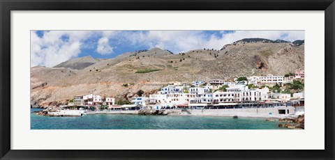 Framed View of the Hora Sfakion, Crete, Greece Print