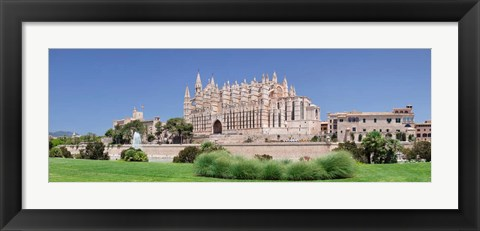 Framed Palma Cathedral (La Seu) and Almudaina Palace, Spain Print