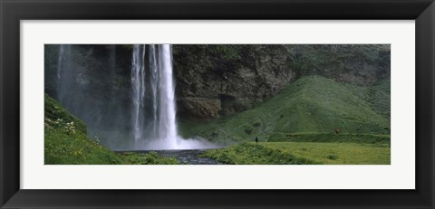 Framed Waterfall in a Forest, Iceland Print