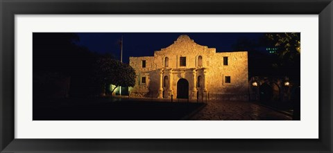 Framed Alamo, San Antonio Missions National Historical Park, Texas Print