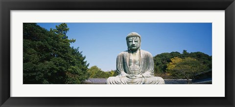 Framed Statue of the Great Buddha, Honshu, Japan Print