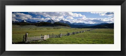 Framed Sawtooth Mountains, Idaho Print