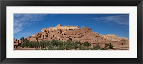 Framed Ksar Ait Benhaddou along the Ounila River, Souss-Massa-Draa, Morocco Print