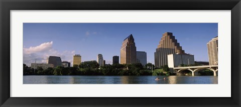 Framed Waterfront Buildings in Austin, Texas Print