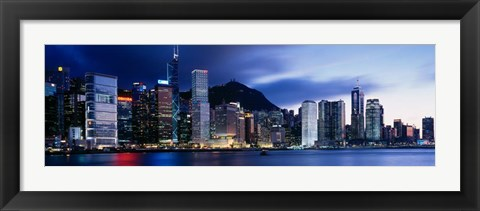 Framed Central District, Hong Kong, Asia Print