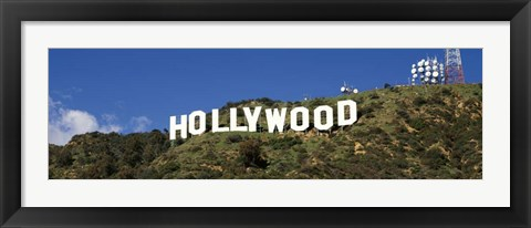 Framed Hollywood Hills Sign, Los Angeles, California Print