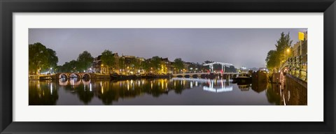 Framed Magere Brug, North Holland, Netherlands Print