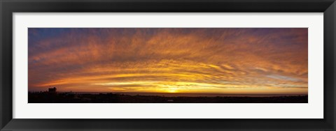 Framed Sunset, Todos Santos, Baja California, Mexico Print