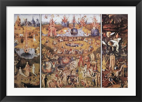 Framed Garden Of Earthly Delights Print