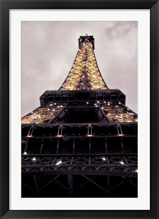 Framed Eiffel Lights Print