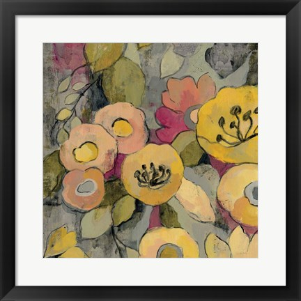 Framed Yellow Floral Duo II Print
