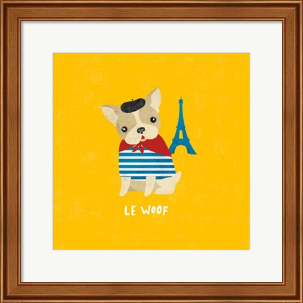 Framed Good Dogs French Bulldog Bright Print