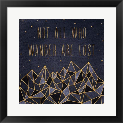 Framed Written in the Stars IV Print