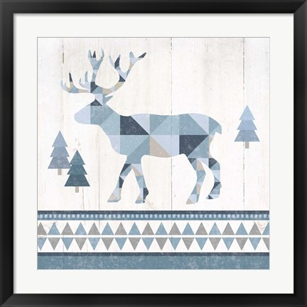 Framed Nordic Geo Lodge Deer IV Print