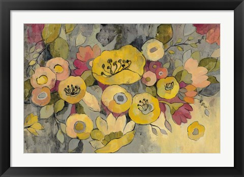 Framed Yellow Floral Duo III Print