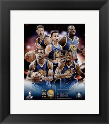 Framed Golden State Warriors 2015-16 Team Composite Print