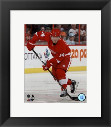 Framed Gustav Nyquist 2015-16 Action Print