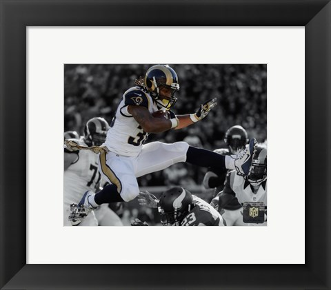 Framed Todd Gurley 2015 Spotlight Action Print