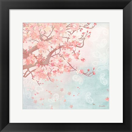 Framed Sweet Cherry Blossoms III Print