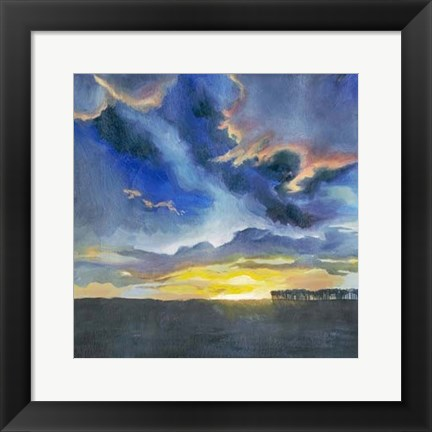 Framed Vivid Sunset I Print