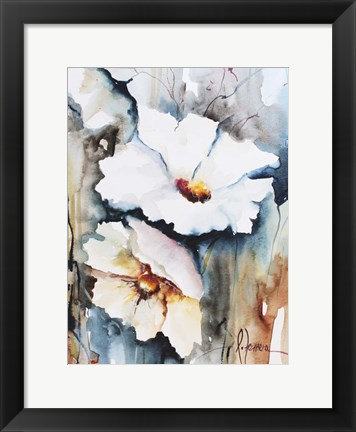 Framed Blooms Aquas II Print