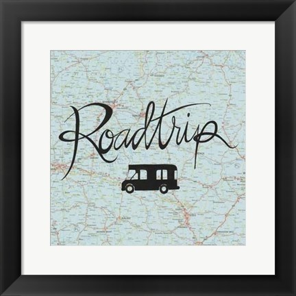 Framed Road Trip II Print